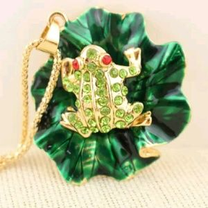 Jewelry - Gorgeous Frog Sweater Necklace